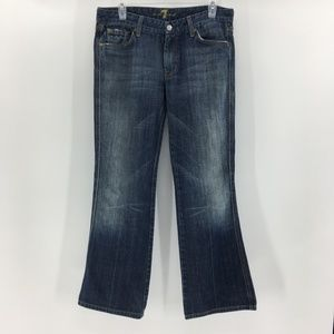 """7 for All Mankind """"A"""" Pocket Boot Cut Jeans"""